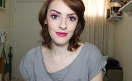 Passo a Passo: Maquiagem Carnaval Rosa e Azul