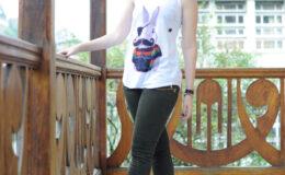 Eu usei… Camiseta do coelho de bigodes