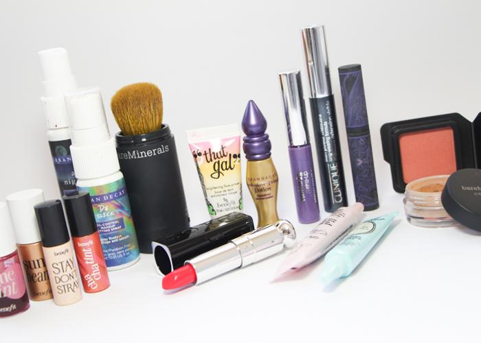 amostras e miniaturas de produtos de beleza maquiagem