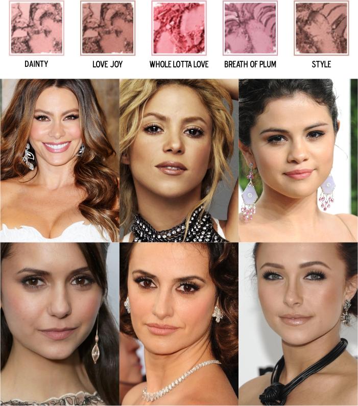 Cores de blush para pele morena negra clara ou média (2)