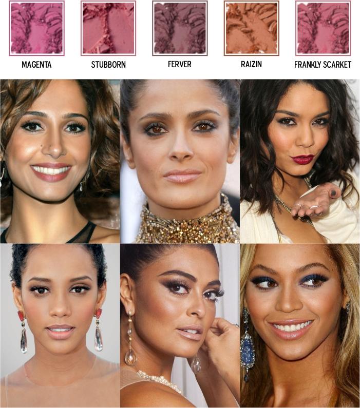 Cores de blush para pele morena negra clara ou média (1)