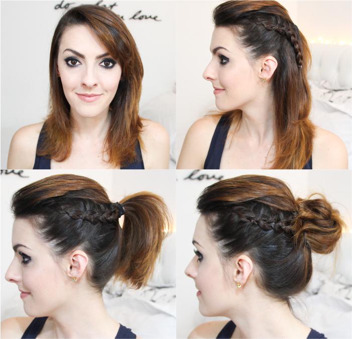 como fazer penteado trança lateral coque rabo bagunçado (1)