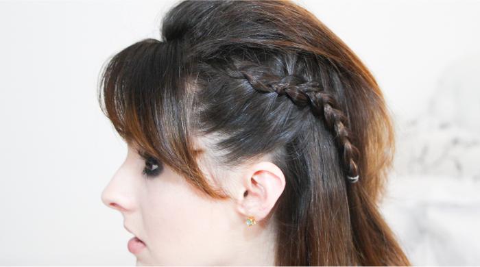 como fazer penteado trança lateral coque rabo bagunçado (4)