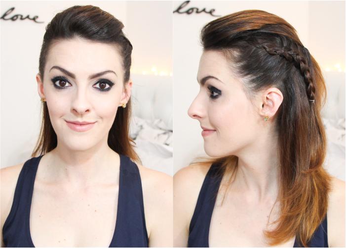 como fazer penteado trança lateral coque rabo bagunçado (5)