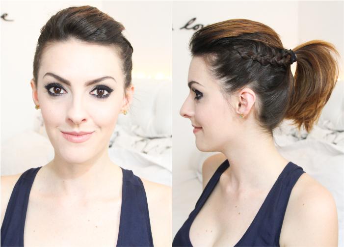 como fazer penteado trança lateral coque rabo bagunçado (6)