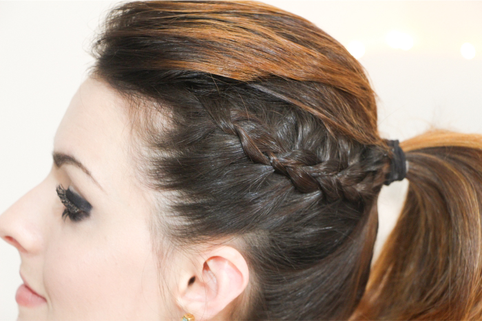 como fazer penteado trança lateral coque rabo bagunçado (7)