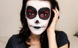 Maquiagem de Halloween Caveira Mexicana