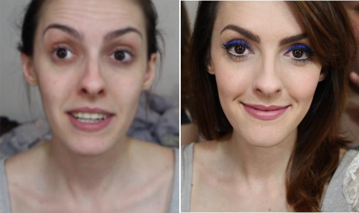 como fazer maquiagem delineador azul bic balada (3)