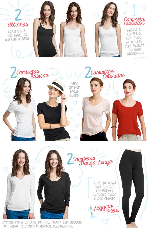 peças basicas guarda roupas