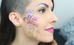 Carnaval: Como fazer tattoo de glitter em degradê