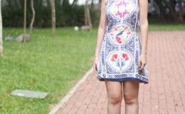 Look da K: Vestido de Azulejos da Farm