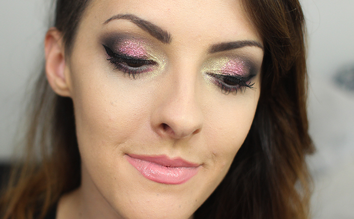 maquiagem de carnaval rosa com amarelho (3)