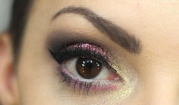 maquiagem de carnaval rosa com amarelho (4)