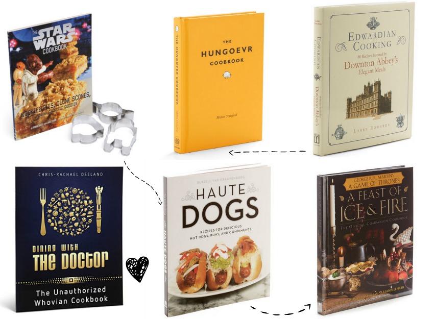 montagem livros geeks nerds de culinaria abc de beleza e e ai beleza