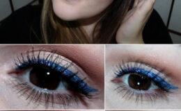 Tutorial Make Adolescente – Delineador Azul com Glitter.