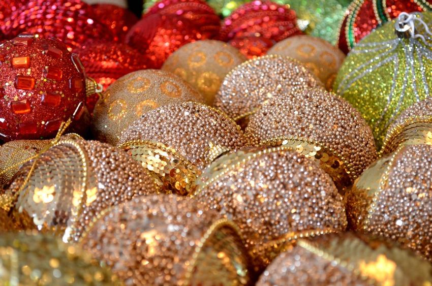 bolas decorando para o natal abc de beleza e ai beleza