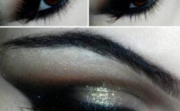 Maquiagem Brilho Dourado.
