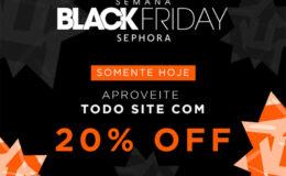 Black Friday na Sephora: 20% de desconto em TODO o…