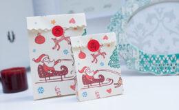 Sacolinhas de presentes para o Natal