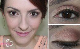 Maquiagem Rosa com um toque de Ouro