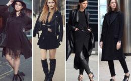 Tudo preto: 20 inspirações de looks