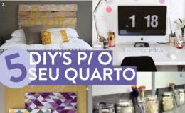 5 projetos de DIY para seu quarto!