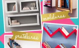 Modos diferentes de guardar seus livros e usá-los na decoração