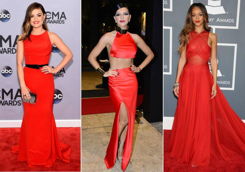Lucy Hale, Mariana Rios e Rihanna