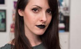 O batom preto mais lindo da Lindsay Woods pra T-blogs