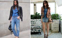 5 ideias para usar jeans com jeans