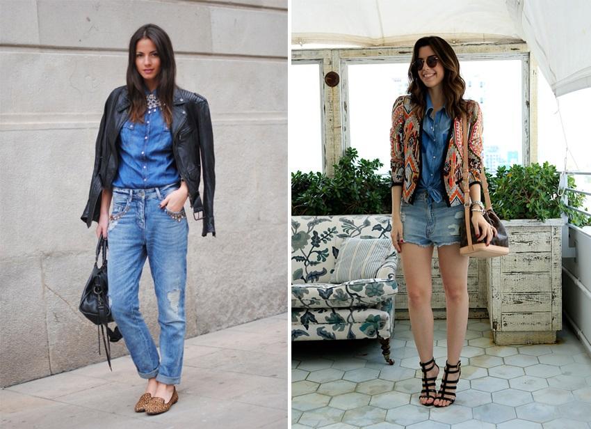 como usar jeans com jeans 5
