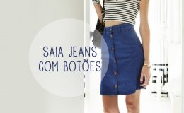 Inspiração: saia jeans com botões