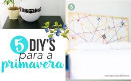 5 DIY'S para renovar seu quarto na primavera