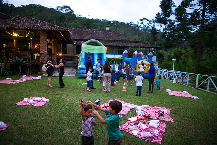 festa infantil ambiente externo