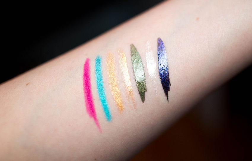 swatch delineadores coloridos