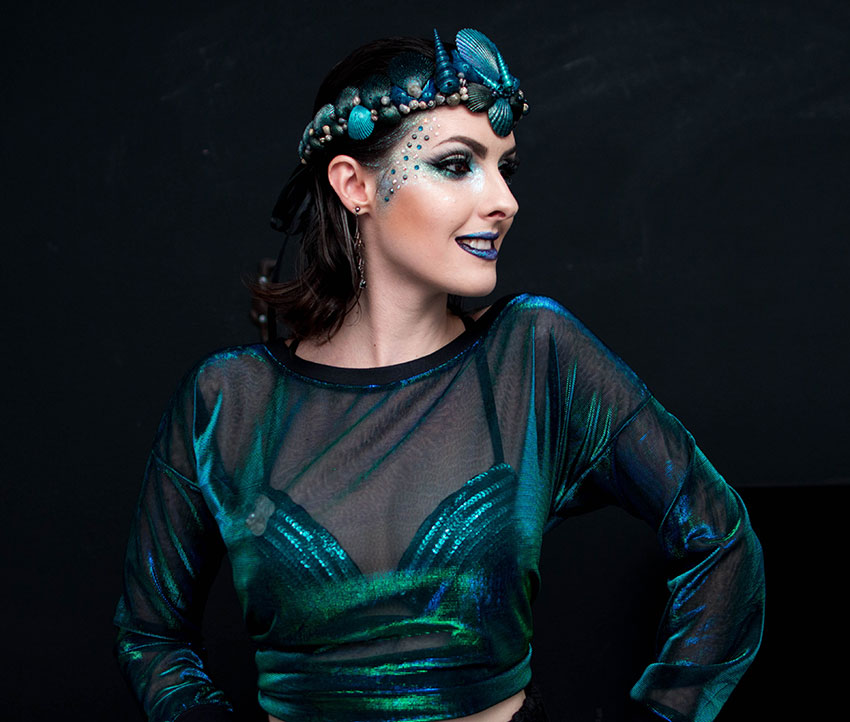 maquiagem carnaval 2016 sereia gotica trevosa (2)