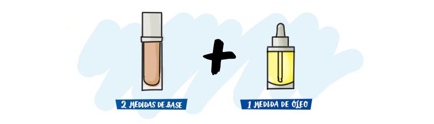medidas-misturando-óleo-na-base