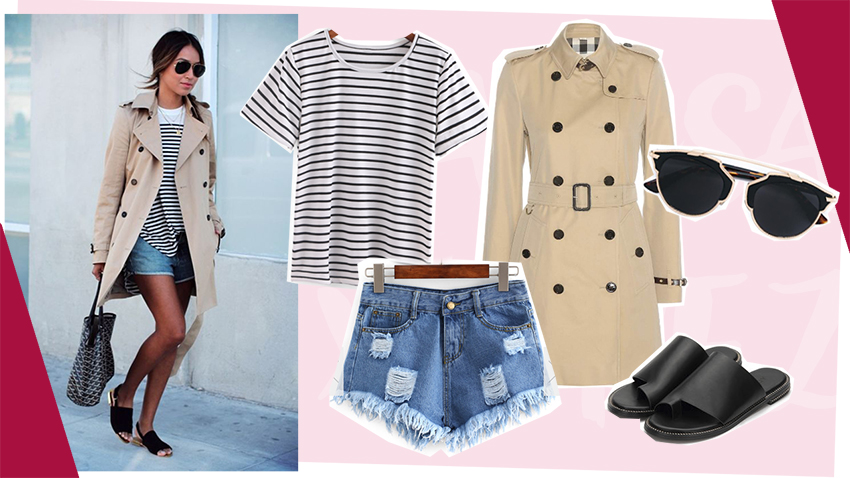 camiseta-listrada-e-trench-coat