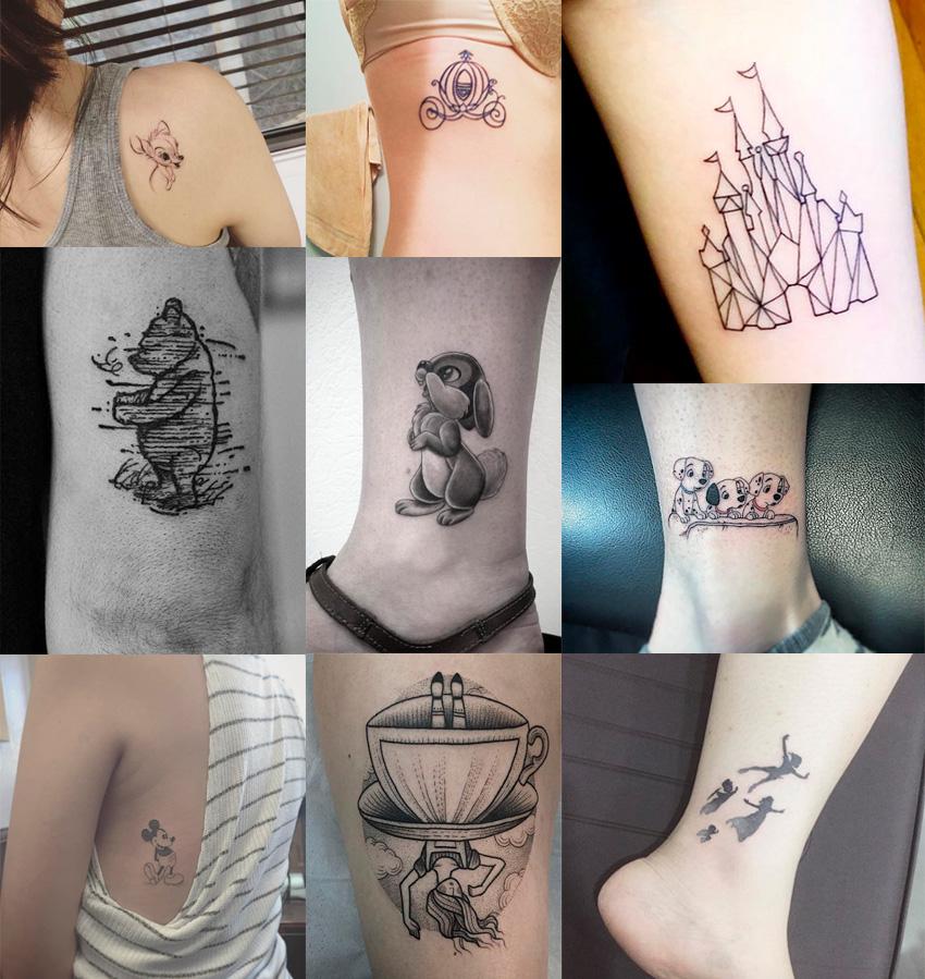 preto-e-branco-tatuagens-disney
