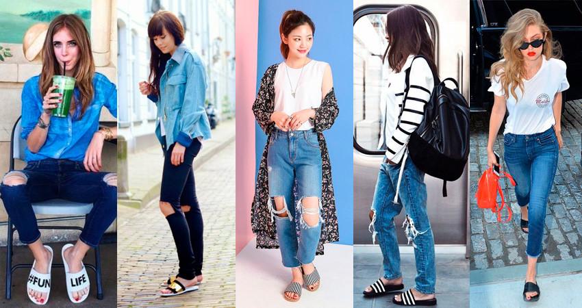 slide-sandals-com-jeans