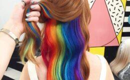 Hidden Rainbow, a tendência colorida de cabelo!