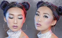 Produtos de maquiagem com efeito holográfico