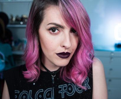 Dark Lolita: o meu batom mais gótico suave para T.Blogs