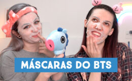 Testando as máscaras faciais do BTS com Babi Dewet