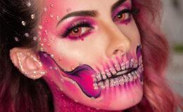 Tutorial Halloween: Maquiagem CAVEIRA PINK por Victor Nogueira